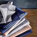 Chemin de table en lin et coton gris borie 50x150cm-NOLA