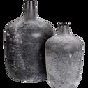 Vase bouteille en verre noir H40 cm-AMBRA