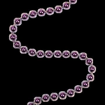 Guirlande de noël XXL en plastique violet L270cm-PHILINE