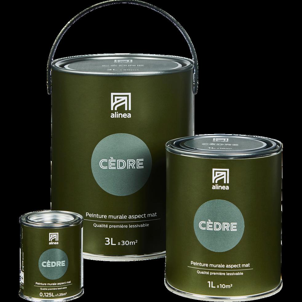 Peinture acrylique mate multi-supports 3L vert cèdre-PEINTURE