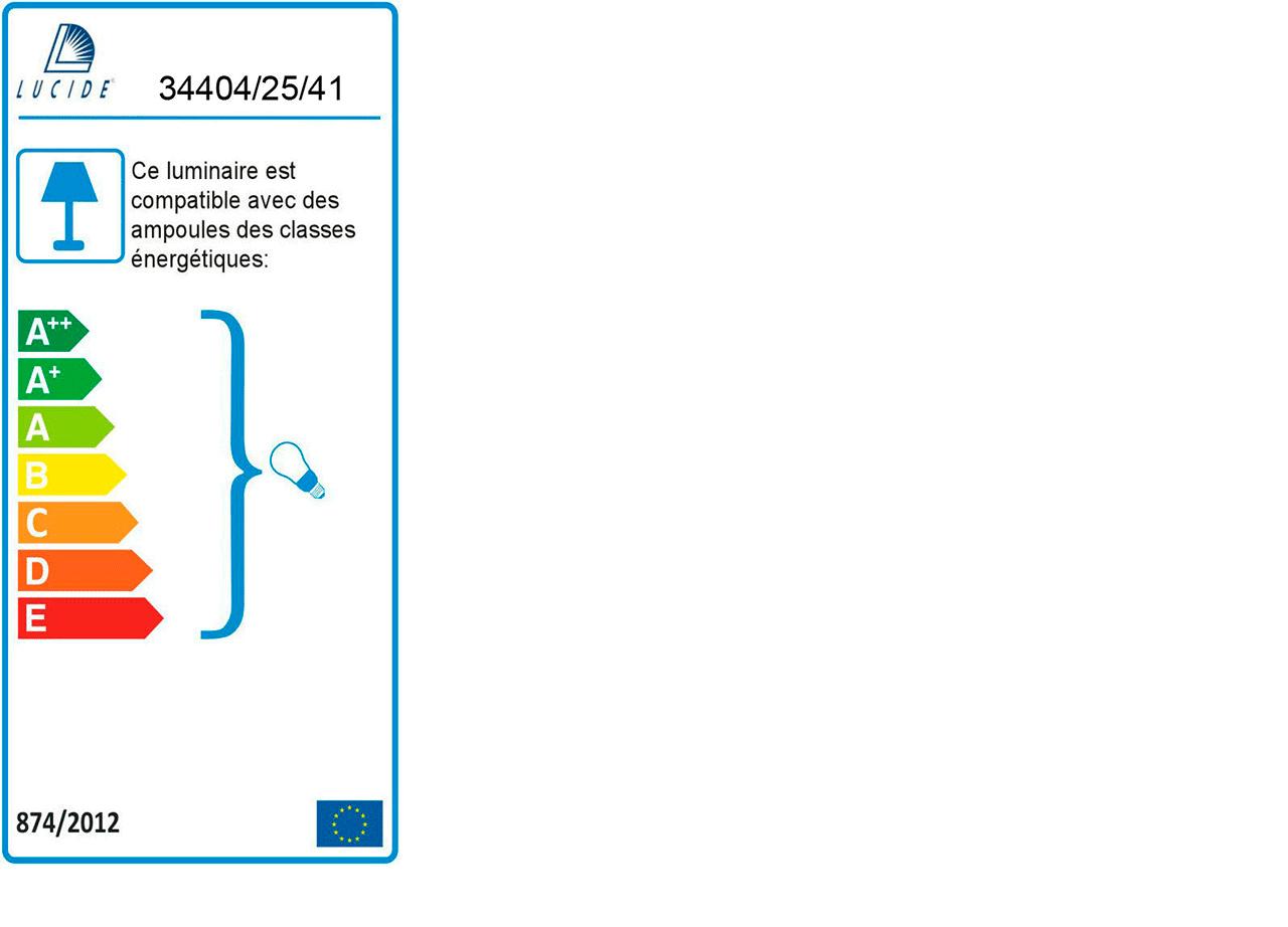 Suspension en métal effet béton D25cm-solo