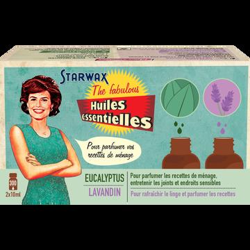 Coffret de 2 huiles essentielles lavandin et eucalyptus-FABULOUS