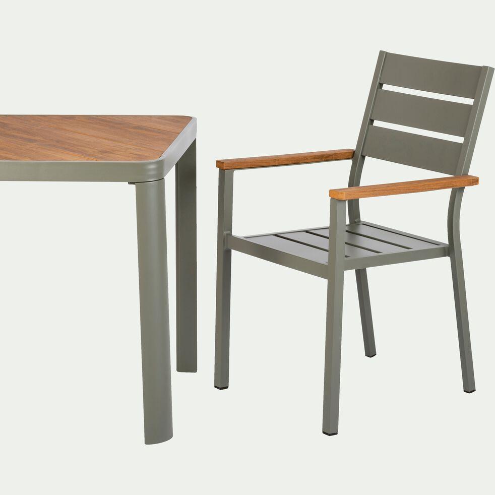 table de jardin en aluminium carr e vert c dre 2 places alep tables de jardin alinea