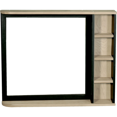 Miroir rectangulaire de salle de bains en acacia massif 90cm-PITAYA