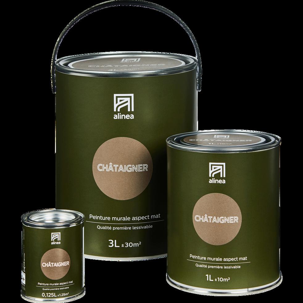 Peinture acrylique mate multi-supports 3L brun chataignier-PEINTURE