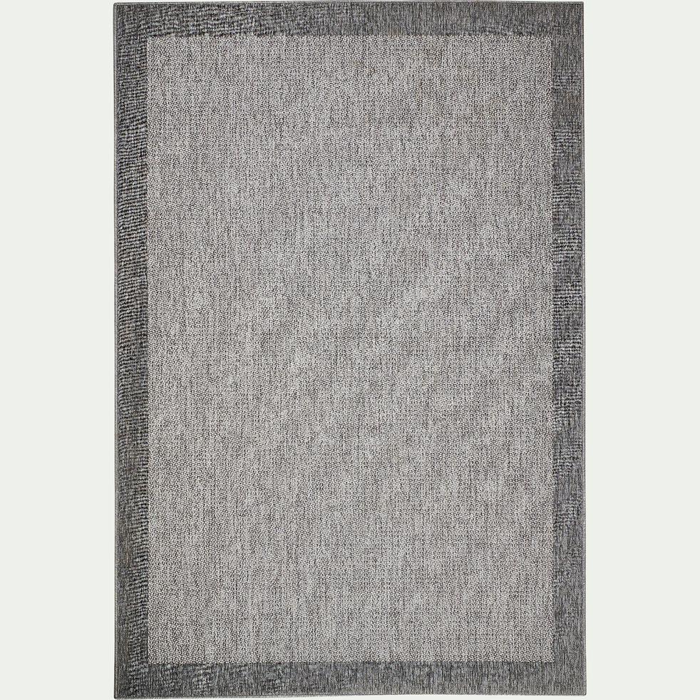 Tapis tissé plat intérieur et extérieur - gris 200x290cm-Bastian