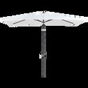 Parasol avec mat inclinable et manivelle 2x3 blanc capelan-MUY