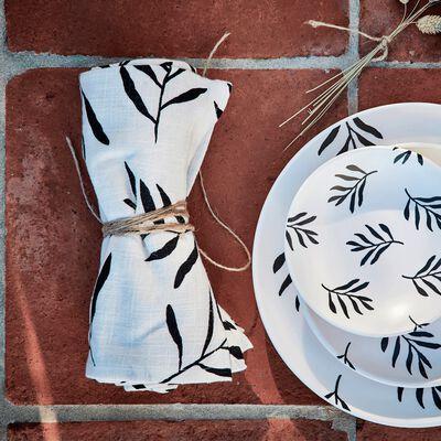 Chemin de table en coton à motif 50x150cm-ALOYSE