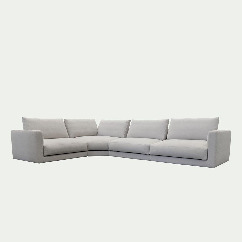 Canapé d'angle 5 places gauche en tissu - beige roucas-AUDES