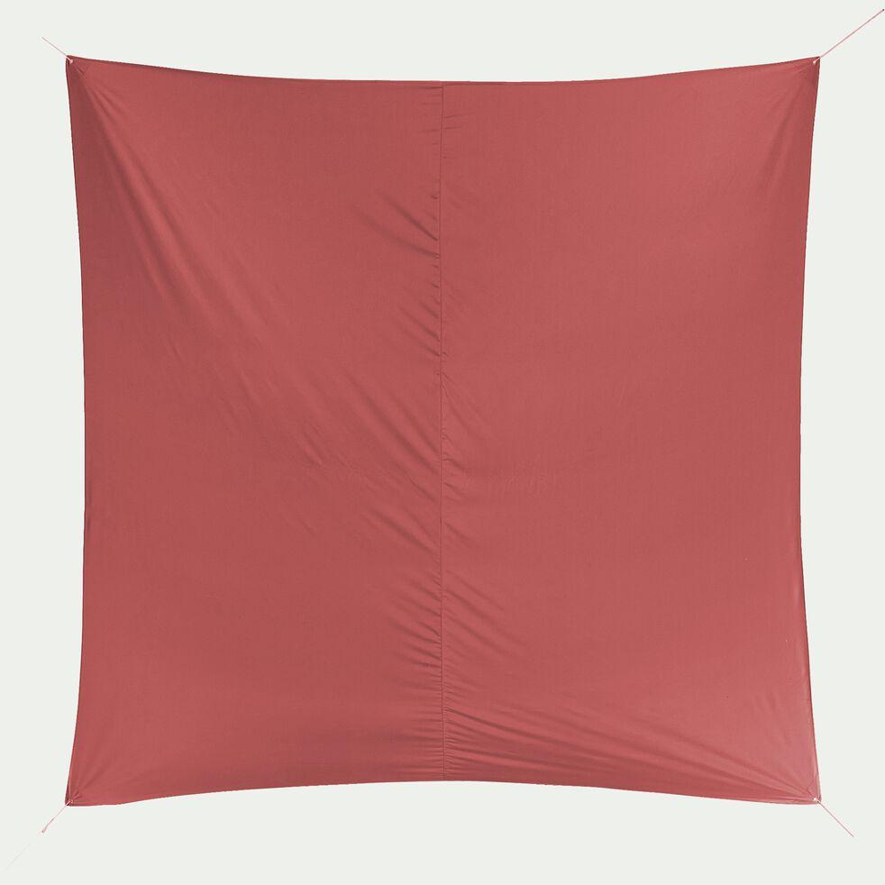 Voile d'ombrage carré 3,6m - rouge ricin-Rosa