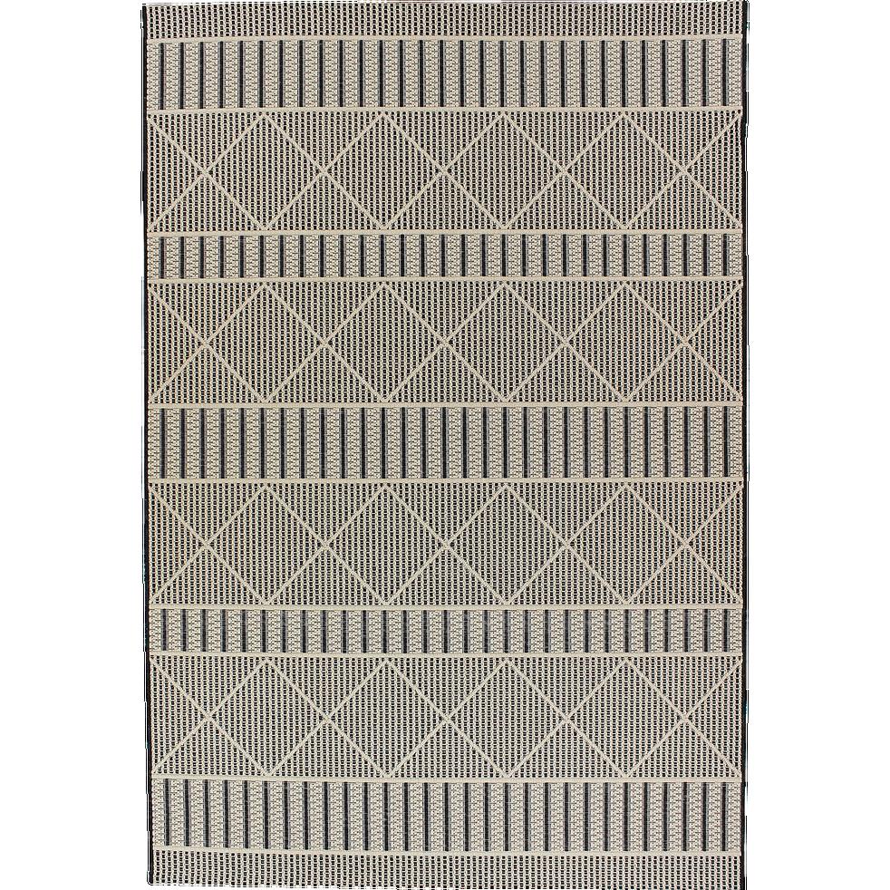 Tapis Exterieur Et Interieur Beige Et Noir 160x230cm Jersey
