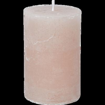 Bougie cylindrique coloris rose sable-BEJAIA