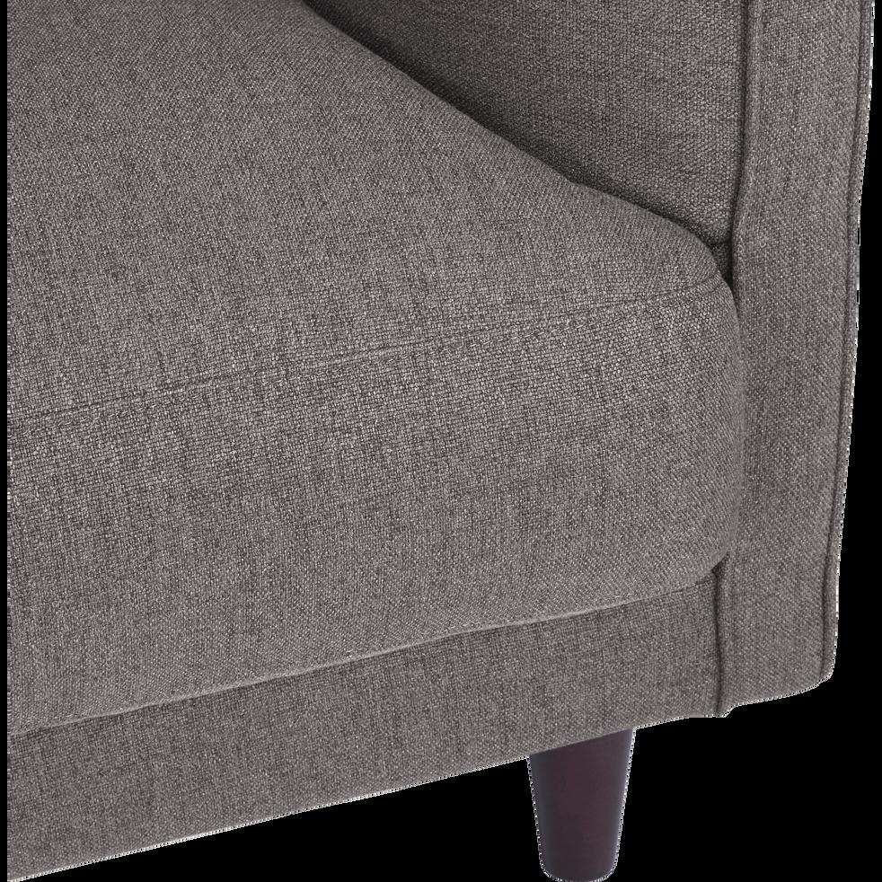 Canapé 5 places fixe en tissu gris borie-LENITA