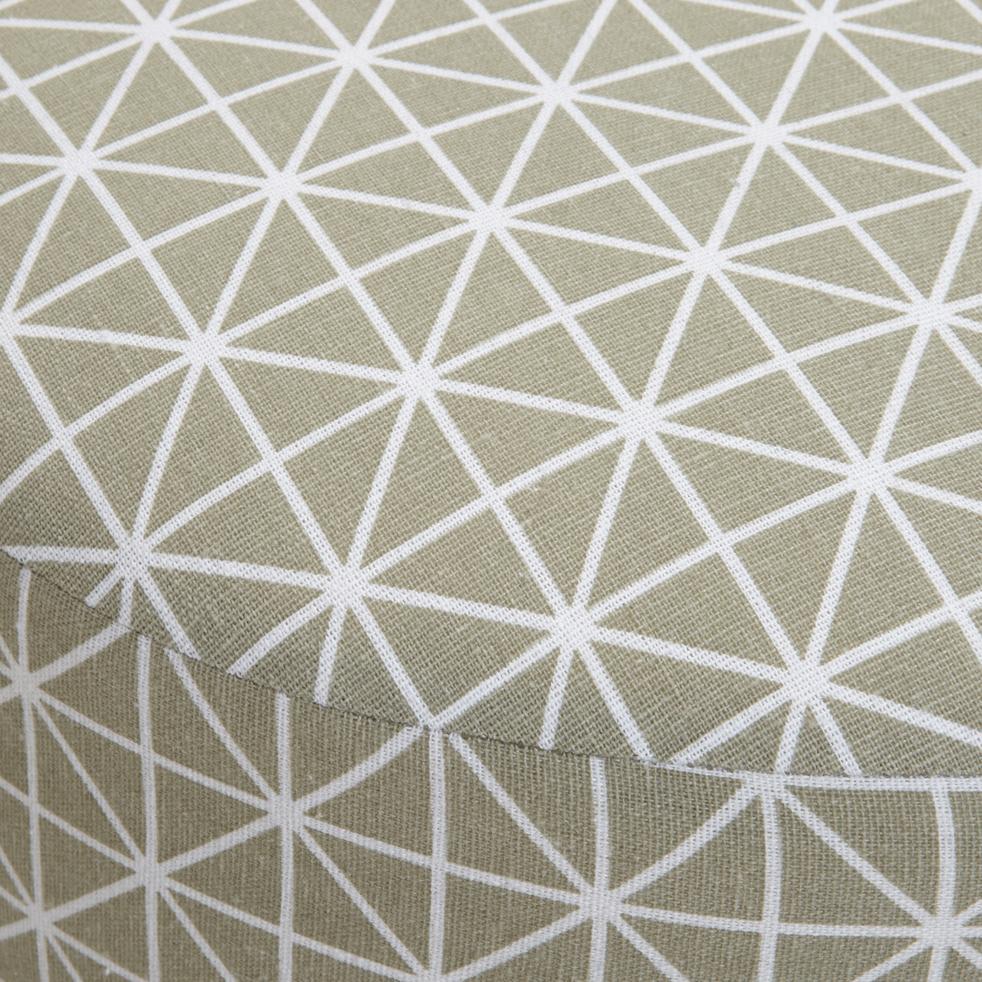 Pouf en tissu à motifs-PLUME