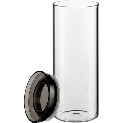 Lot de 3 pots en verre avec couvercle-LEDRU