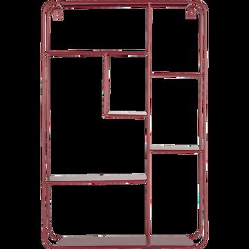 Étagère murale en fer rouge L37xl10xH55cm-VANELLE
