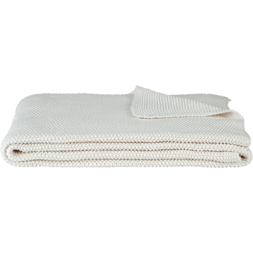 Jeté de lit tricoté en coton blanc ventoux 180x220cm-VERDON