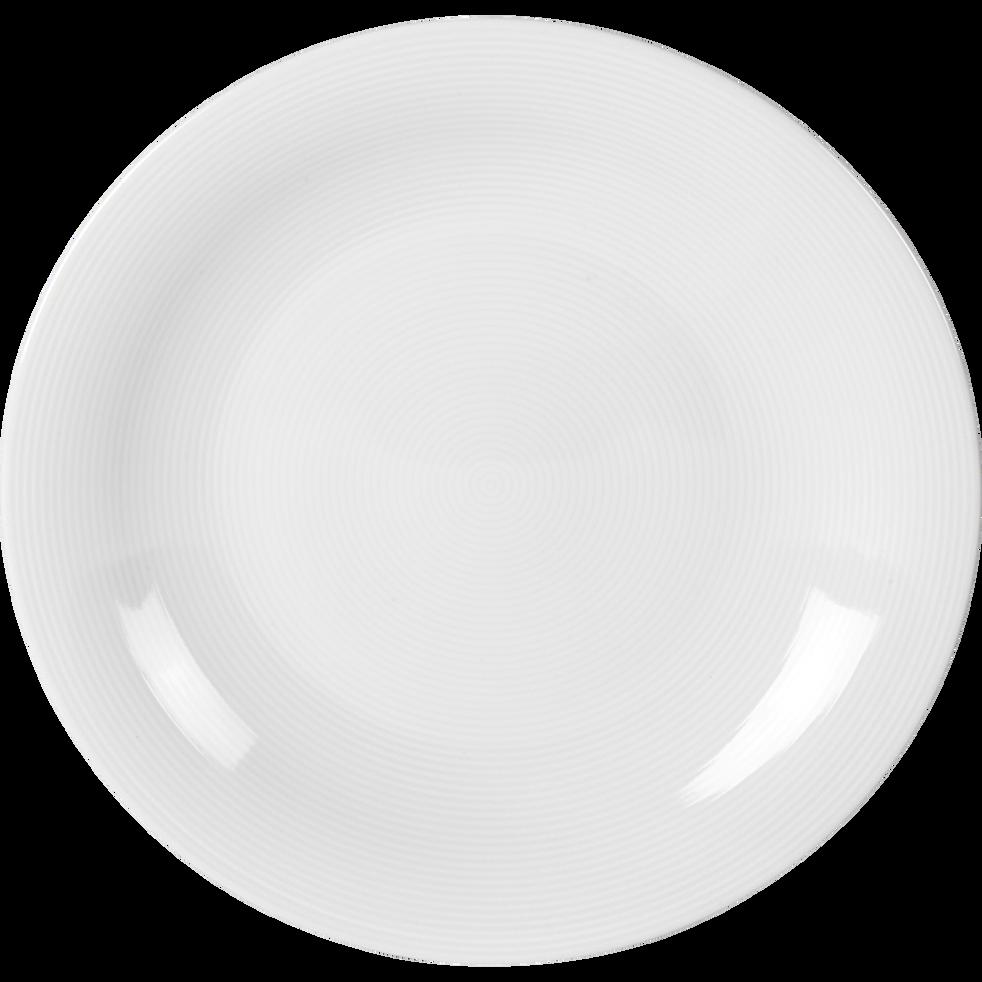 assiette plate en porcelaine qualit h teli re d27cm eto assiettes plates alinea. Black Bedroom Furniture Sets. Home Design Ideas
