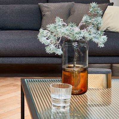 Vase en verre marron et gris H25cm-CONSTANTIN