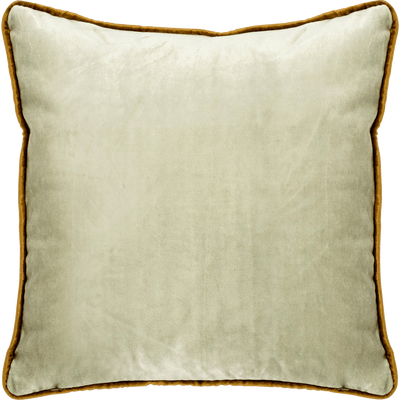 Coussin en velours vert olivier 45x45cm-IMPERIA