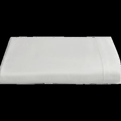 housse de couette en percale de coton gris restanque 240x220cm flore 240x220 cm la. Black Bedroom Furniture Sets. Home Design Ideas