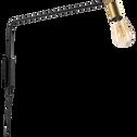 Applique orientable en métal noir 70cm-HERON