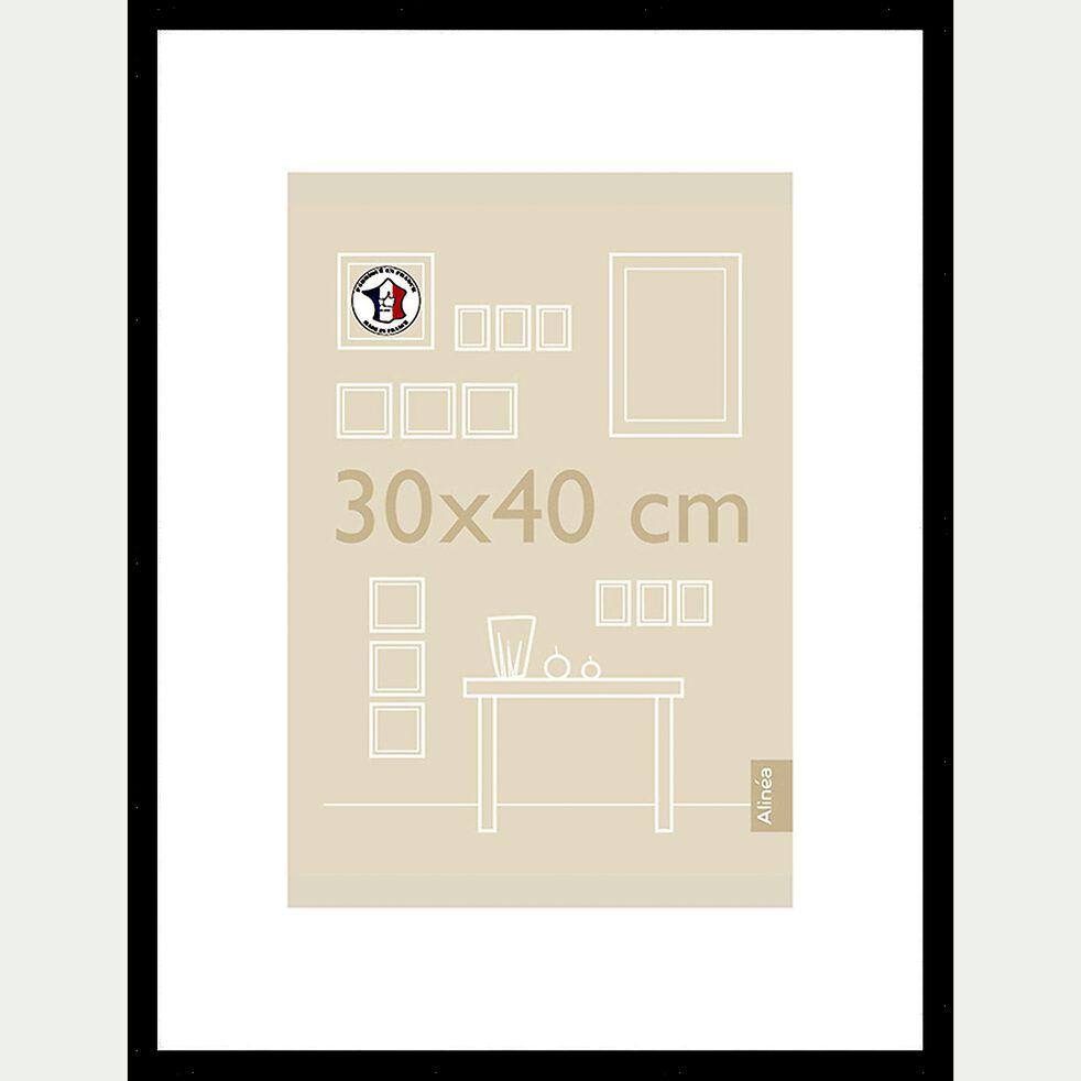Cadre photo en bois - 30x40 noir-Hapa