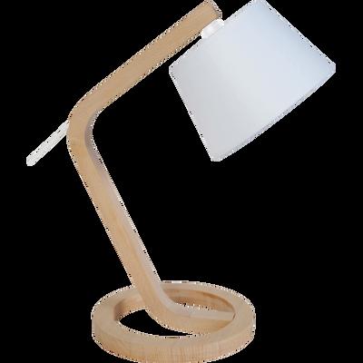 Lampe à poser en bois de hêtre H41cm-MOKUZAI