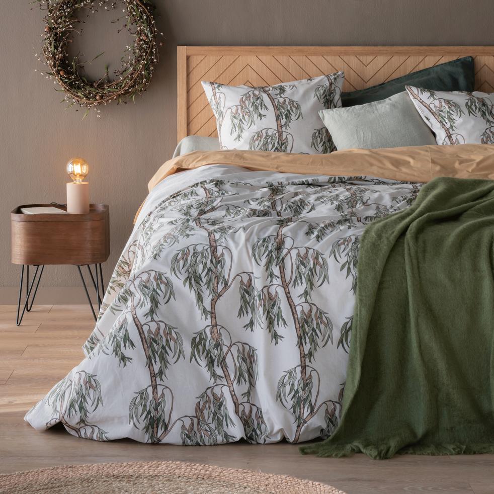 parure de lit en coton motifs saule 260x240 63x63 cm saule 260x240 cm catalogue. Black Bedroom Furniture Sets. Home Design Ideas