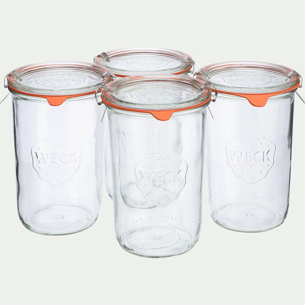 Barquette de 4 bocaux en verre - 850ml-WECK
