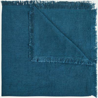Serviette en lin et coton bleu figuerolles 41x41cm-CASTILLON