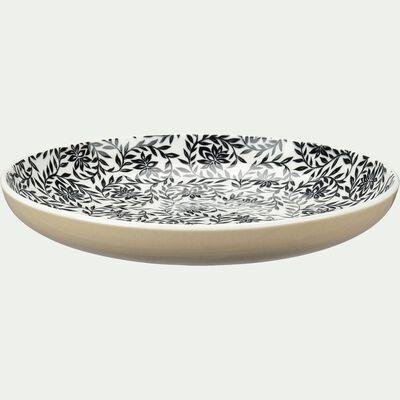 Assiette à dessert en porcelaine motifs jasmin - beige d20,8cm-AIX