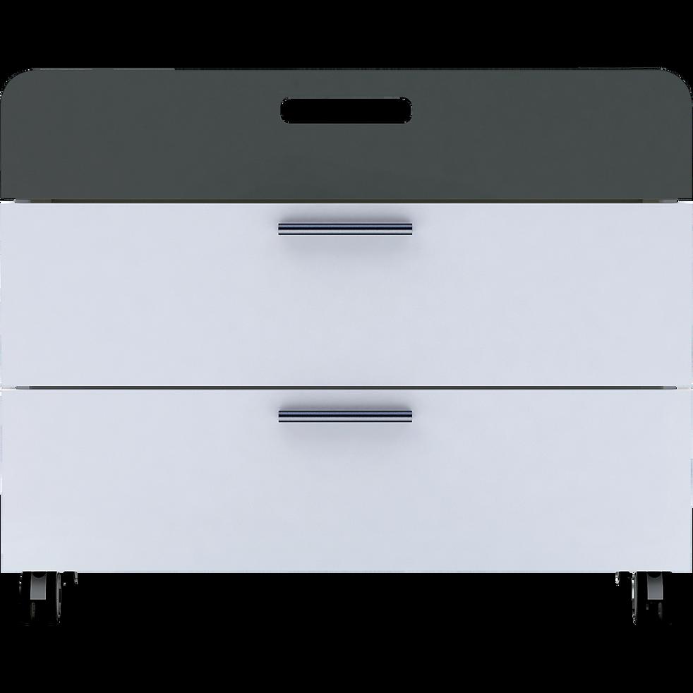 Commode À Roulettes commode 3 tiroirs à roulettes blanc en bois - filou - commodes