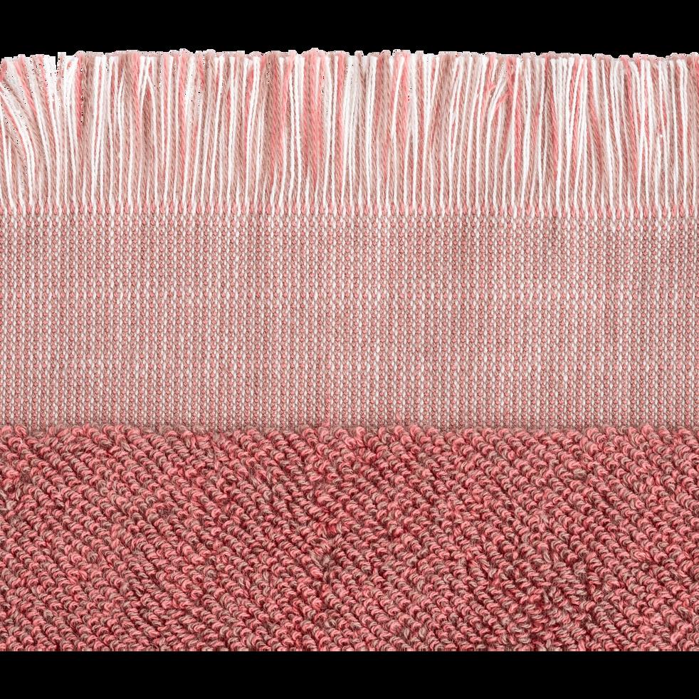 Drap de douche en coton 70x140cm rose-HANOI