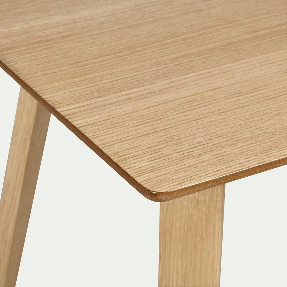Table de repas carrée plaquée chêne - 4 places-URSULE