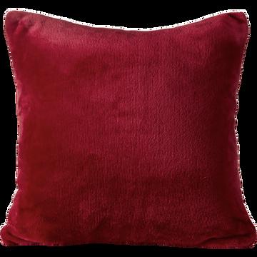 Housse de coussin effet doux rouge sumac 40x40cm-ROBIN