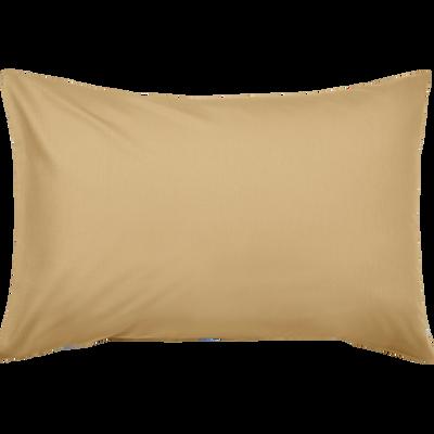 Taie d'oreiller en coton lavé beige nèfle 45x65 cm-CALANQUES