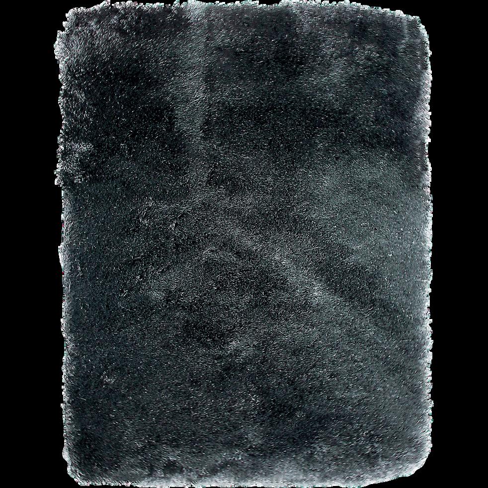 Tapis 120x170cm noir-TOUDOU