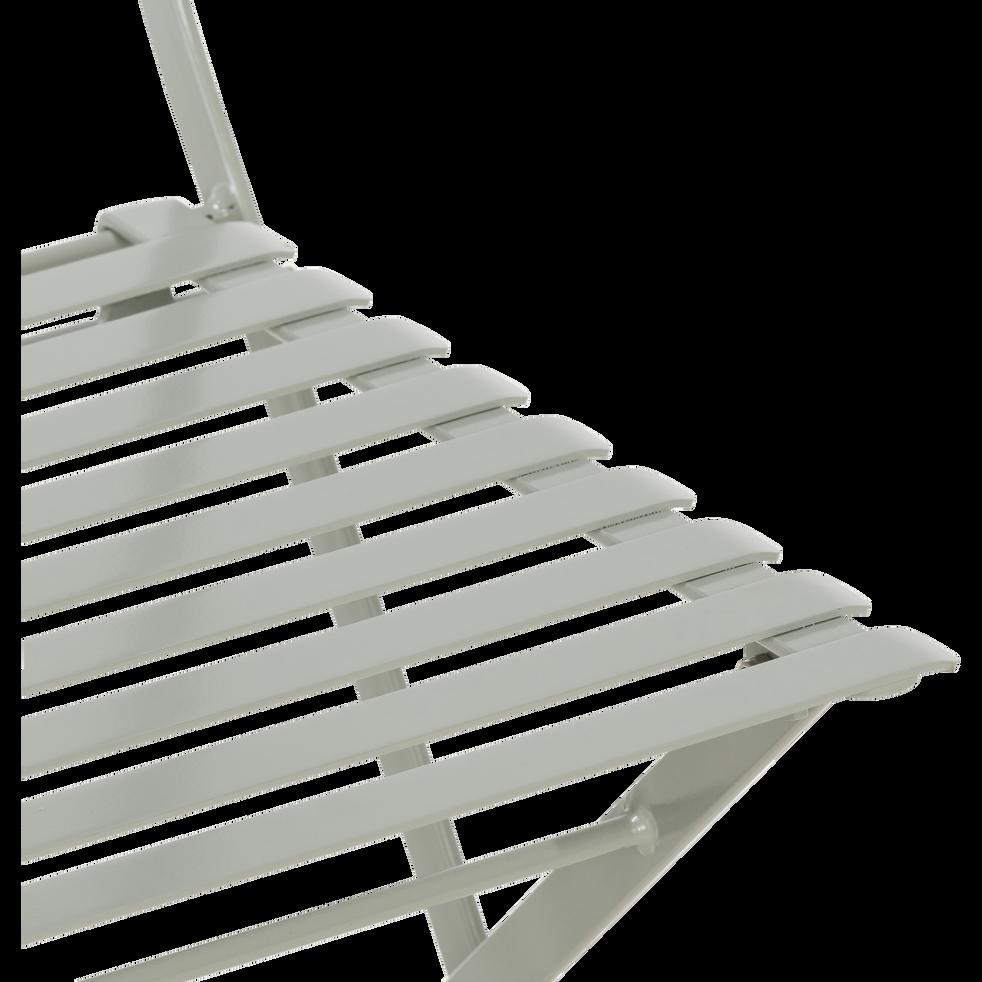 Chaise de jardin pliante vert olivier en acier-CERVIONE