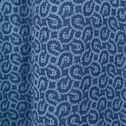 Rideau en velours à motifs bleus 130x250cm-MOSAIQUE