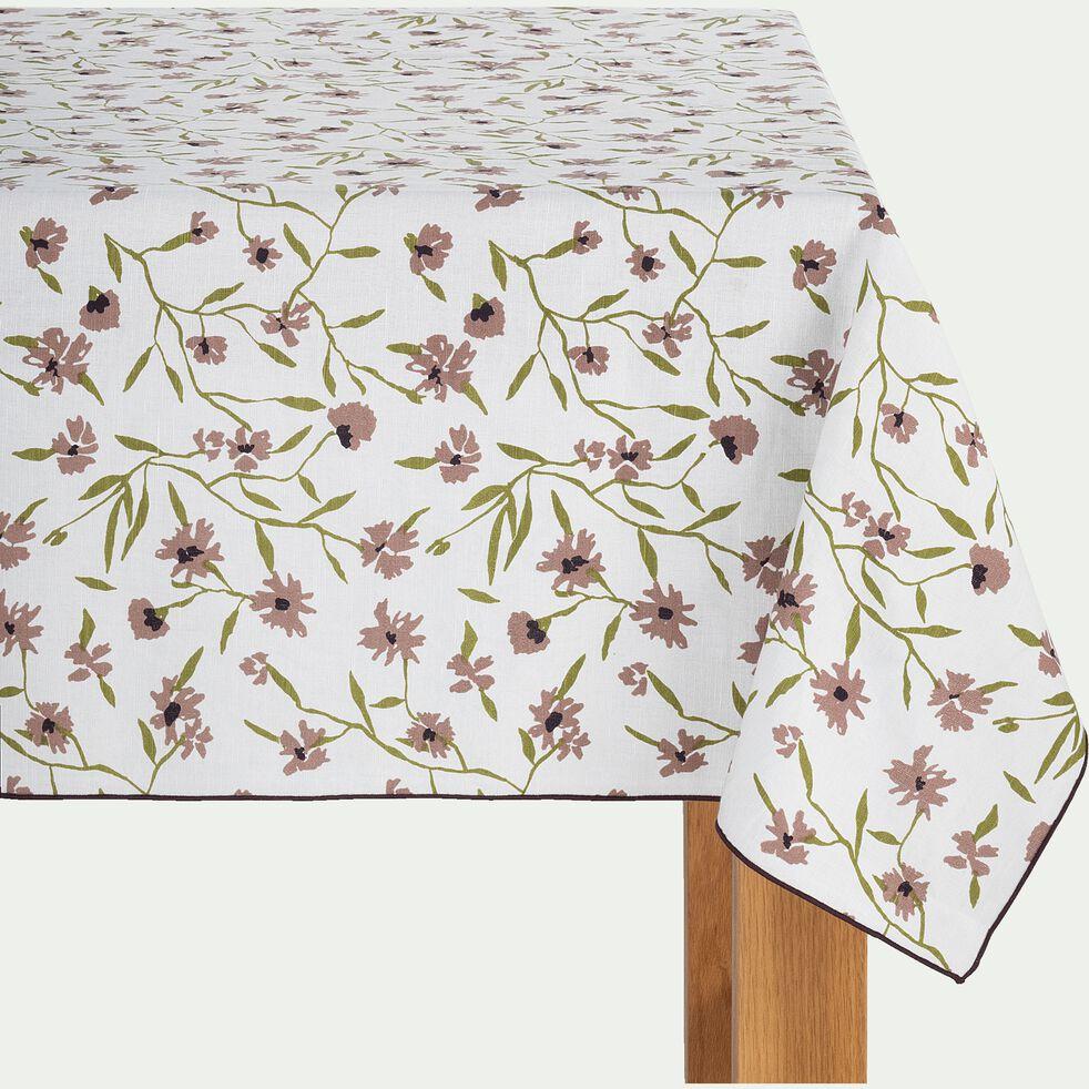 Nappe en lin et coton blanc capelan 170x250cm-DANGWA