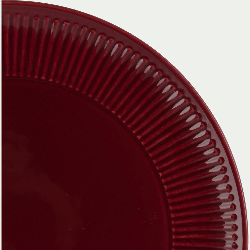 Assiette plate en faïence D27cm - rouge sumac-MORA