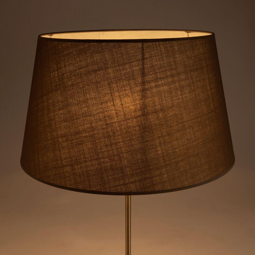 Abat-jour tambour en coton - D45cm brun châtaigner-MISTRAL