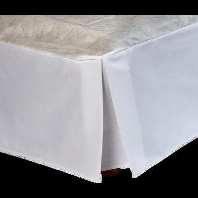 Cache-sommier blanc 32 cm - 160x200 cm-OPALINE