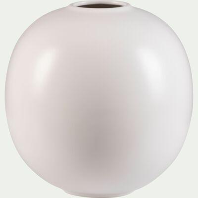 Vase boule en céramique - blanc ventoux D25xH27cm-BALA