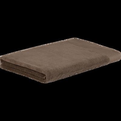 Drap de bain en coton 100x150cm brun châtaignier-AZUR