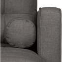 Canapé d'angle convertible réversible en tissu gris restanque-ROMEO