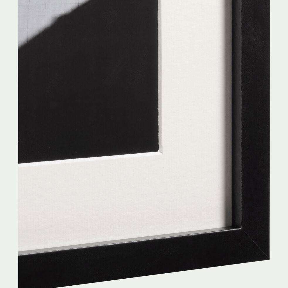Image encadrée noir et blanc 24x30cm-TARNAGA