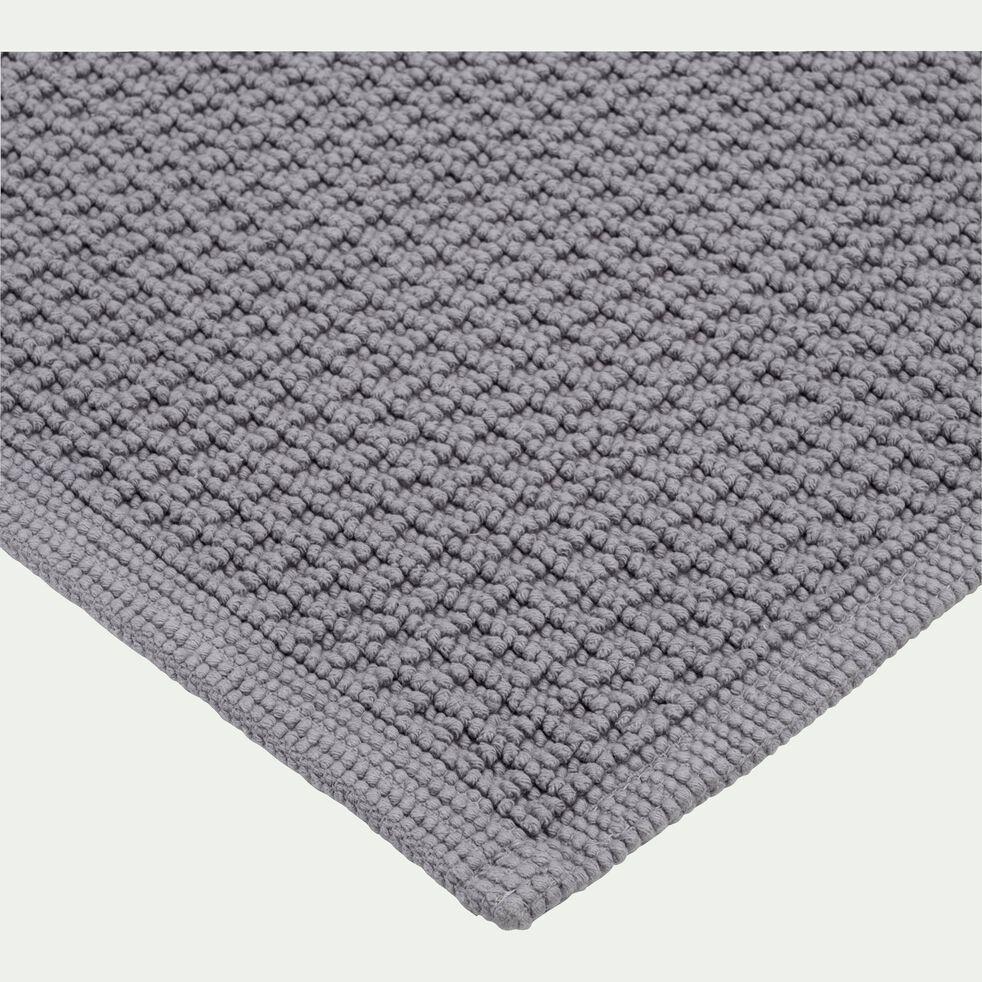 Tapis de bain tissé plat en coton - gris restanque 60x100cm-ESCAPADE