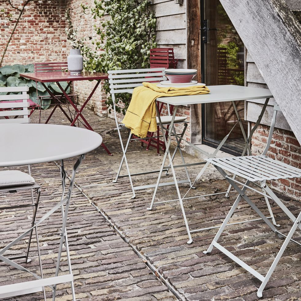 Table de jardin pliante vert olivier D60cm (2 places)-CERVIONE